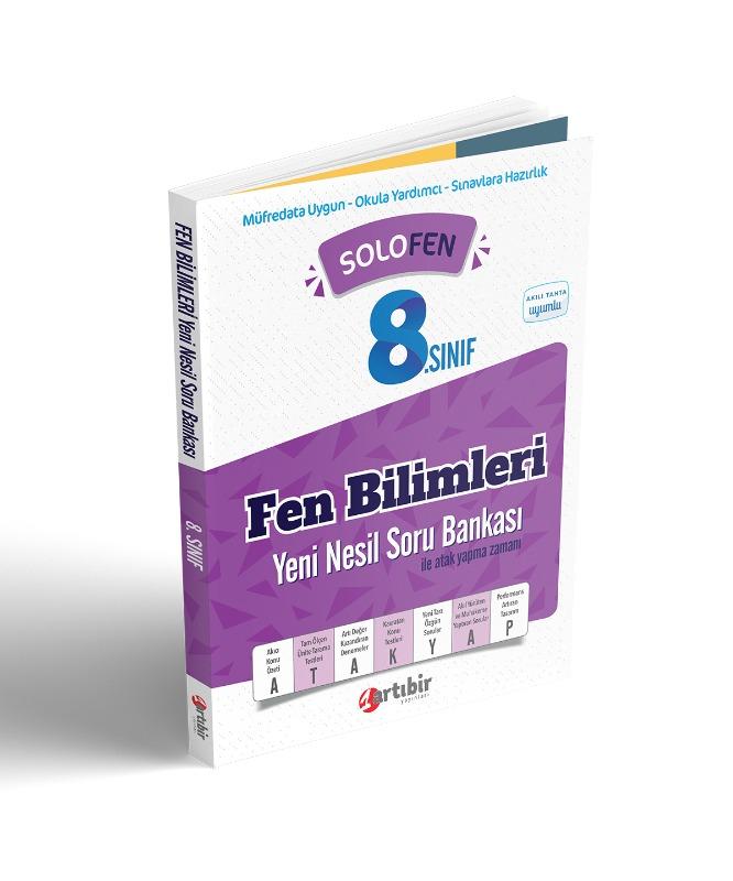 Artıbir Yayınları Solo Fen 8. Sınıf Fen Bilimleri Yeni Nesil Soru Bankası