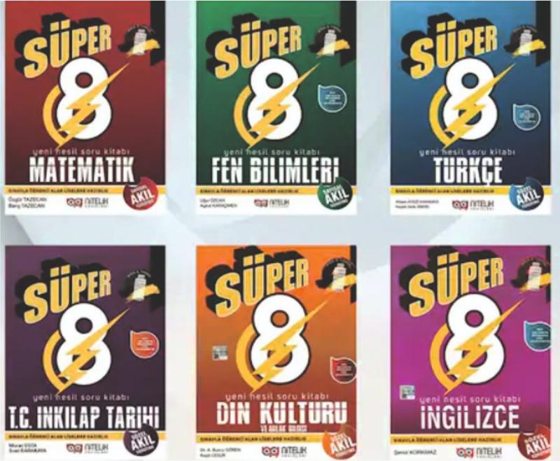 Nitelik Yayınları 8.Sınıf LGS Yeni Nesil 6 Kitap Süper Set