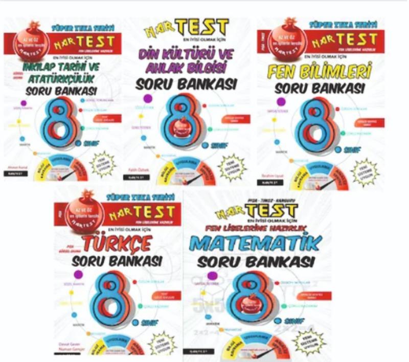 Nar Test Yayınları 8. Sınıf LGS Süper Zeka 5'li Soru Bankası 2020 Yeni