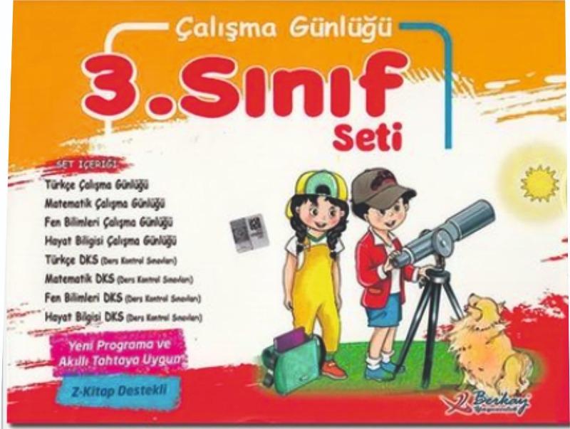 3. Sınıf Çalışma Günlüğü Seti Berkay Yayıncılık