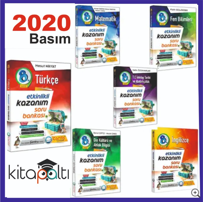Çanta Yayınları 8.Sınıf Kazanım Soru Bankası 6'lı Set 2020