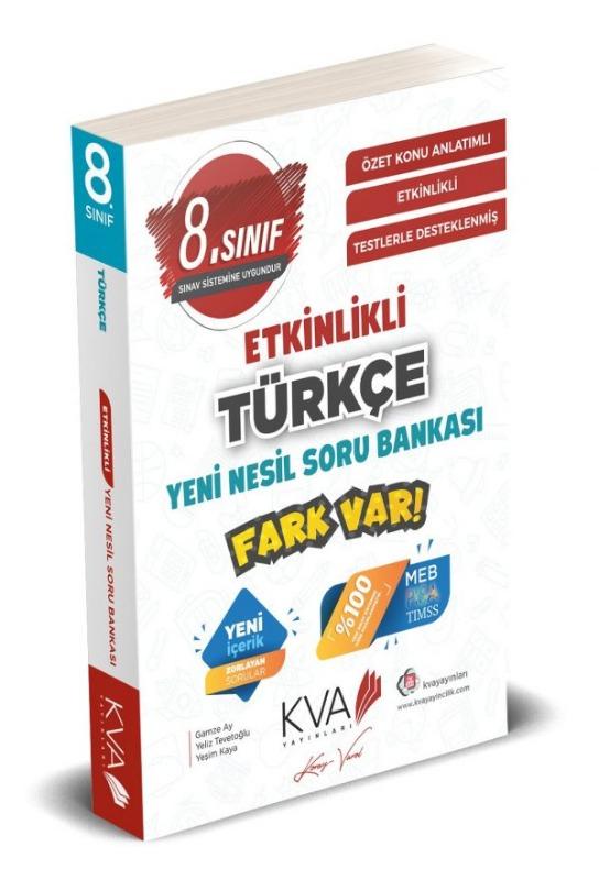 8.Sınıf Türkçe ETKİNLİKLİ FARK VAR YENİ NESİL Soru Bankası Koray Varol Yayınları