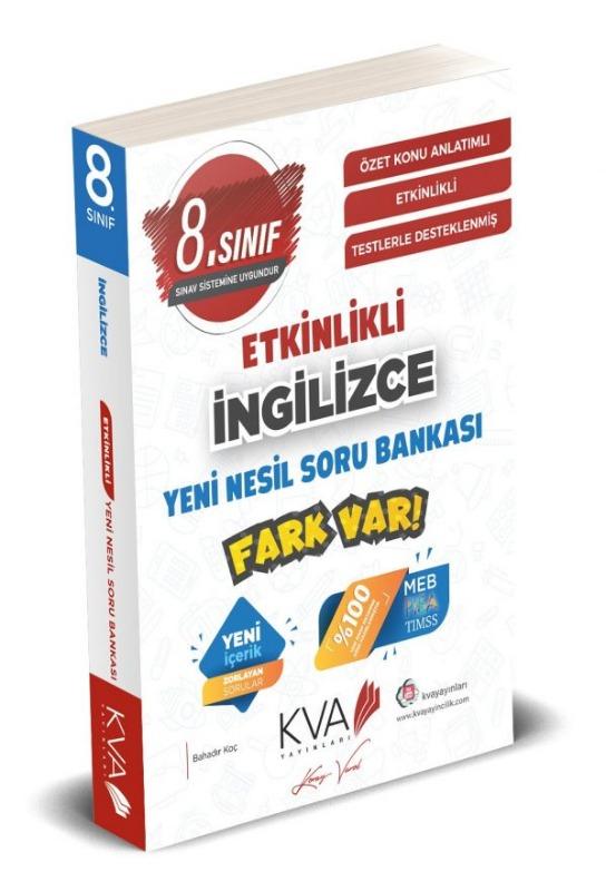 8.Sınıf İngilizce  ETKİNLİKLİ FARK VAR YENİ NESİL Soru Bankası Koray Varol Yayınları