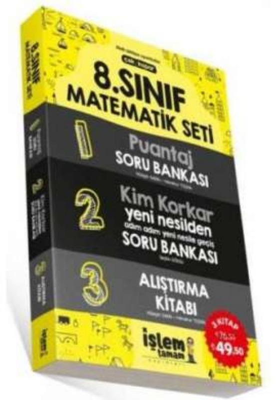 8. Sınıf Matematik Set Soru Bankası 3 Kitap İşlem Tamam Yayınları