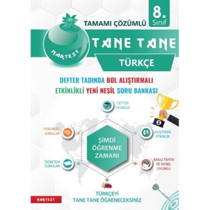 8. Sınıf Defter Tadında Tane Tane Türkçe Nartest Yayınları