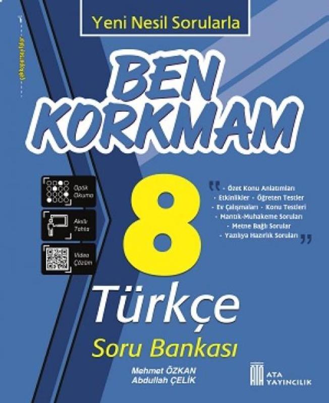 8. Sınıf Ben Korkmam Türkçe Soru Bankası Ata Yayıncılık