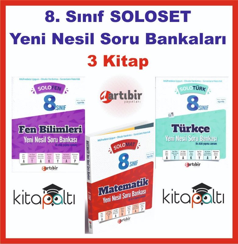 Artıbir 8. Sınıf Solo Soru Bankaları 3 Kitap SET