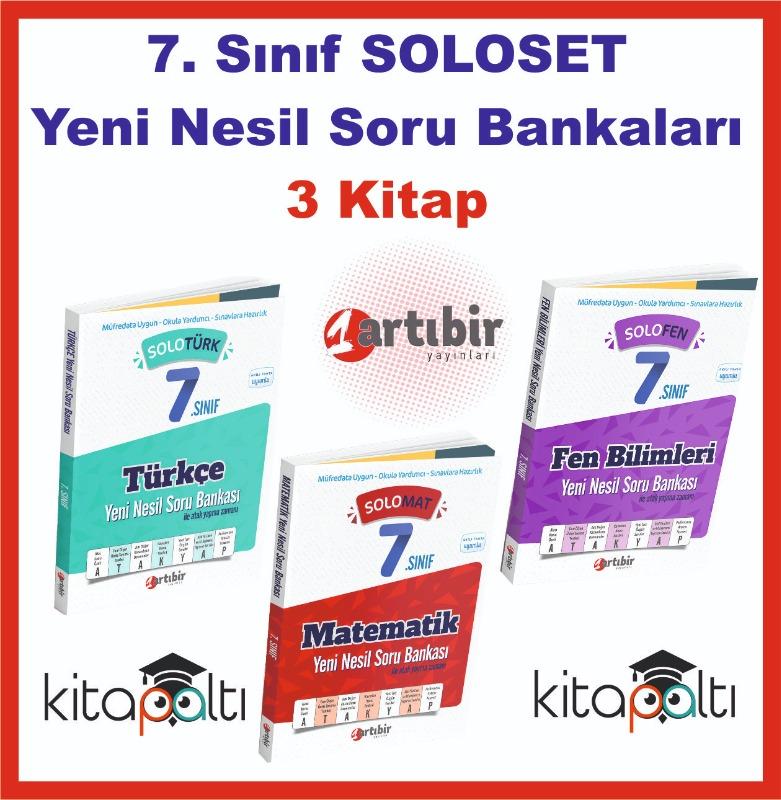 Artıbir 7. Sınıf Solo Soru Bankaları 3 Kitap SET