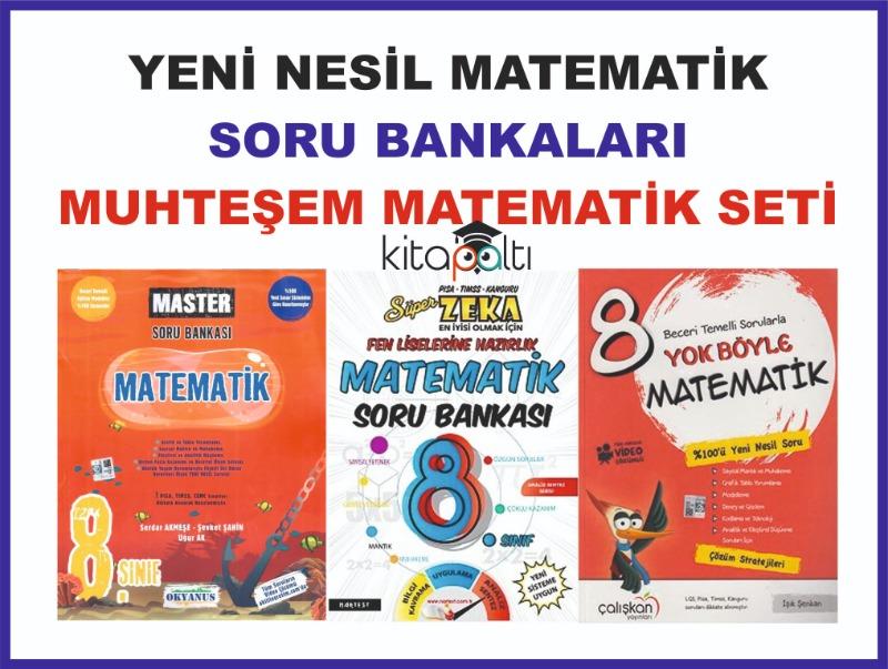 8. Sınıf LGS Yeni Nesil Sorularla Matematik Soru Bankaları Seti Muhteşem Set
