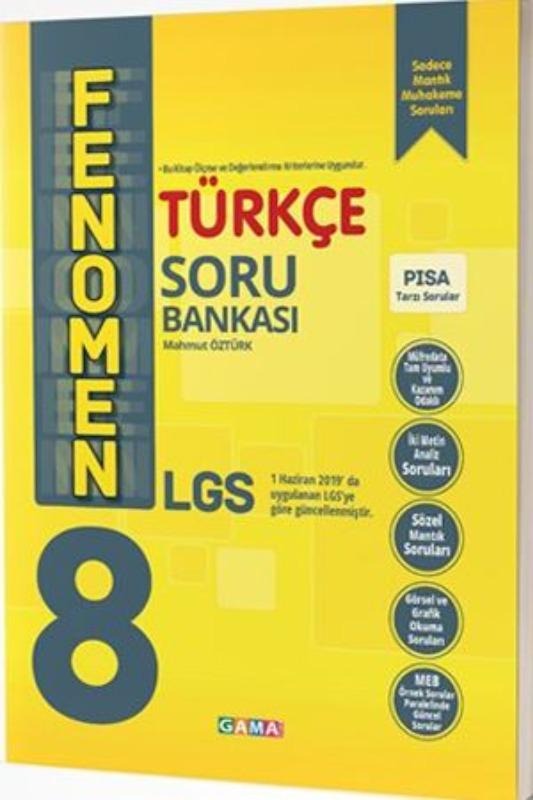 Gama 8. Sınıf LGS Fenomen Türkçe Soru Bankası Gama Yayınları