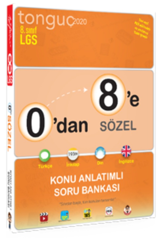 0'dan 8'e Sözel Konu Anlatımlı Soru Bankası Tonguç Akademi Yayınları