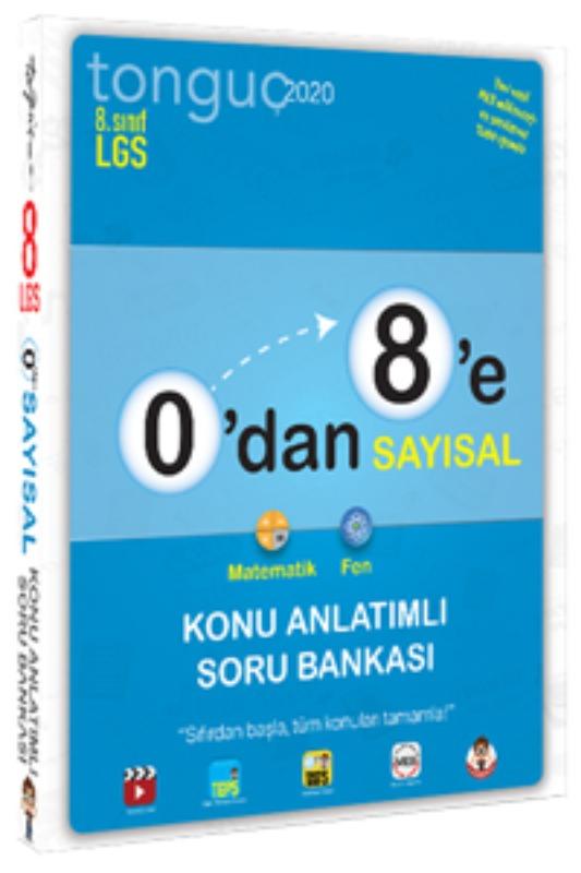 0'dan 8'e Sayısal Konu Anlatımlı Soru Bankası Tonguç Akademi Yayınları