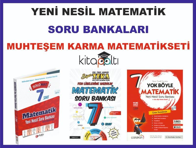 7. Sınıf Yeni Sorularla Matematik Soru Bankaları Seti Muhteşem Karma Set