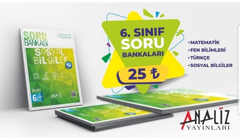 Analiz Yayınları 6. Sınıf  Soru Bankası Seti - 4 Kitap