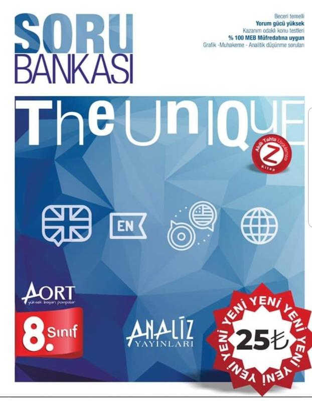 8.SINIF AORT THE UNIQUE İNGİLİZCE SORU BANKASI - ANALİZ YAYINLARI