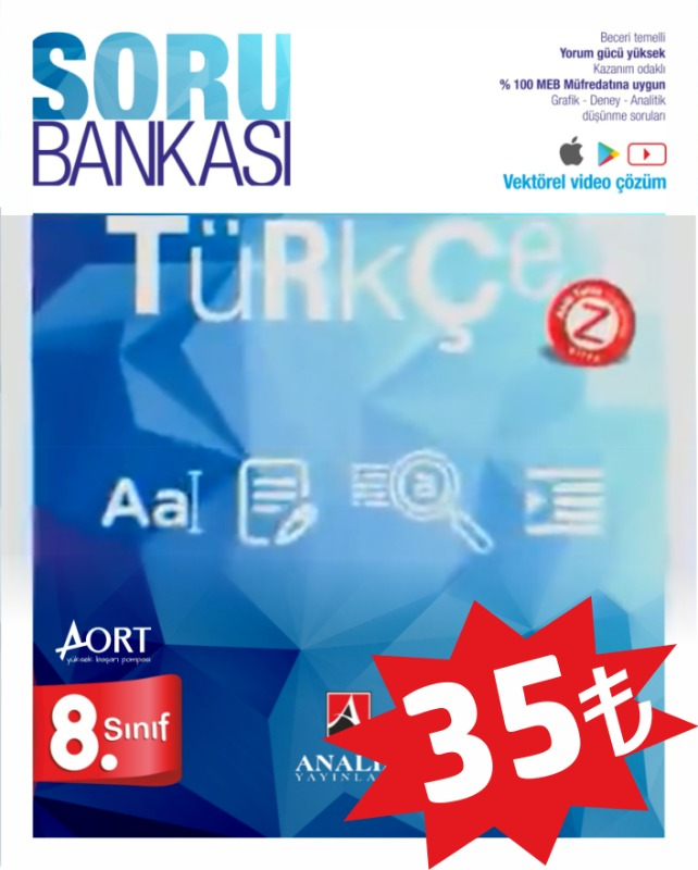 Analiz Yayınları LGS 8. Sınıf Türkçe Soru Bankası