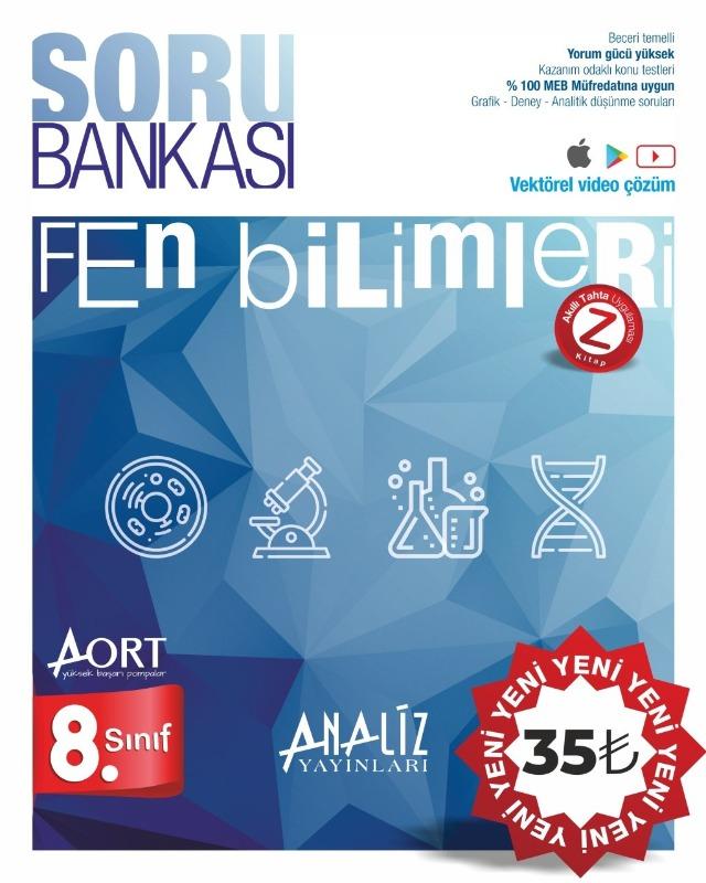 Analiz Yayınları LGS 8. Sınıf Fen Bilimleri Soru Bankası
