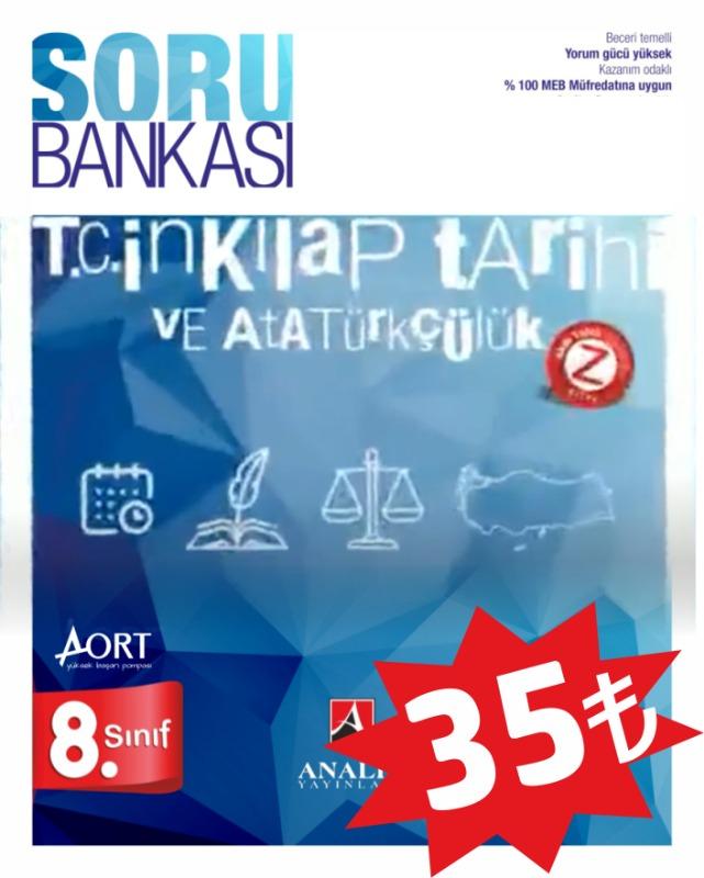 Analiz Yayınları LGS 8. Sınıf T.C. İNKILAP TARİHİ VE ATATÜRKÇÜLÜK Soru Bankası