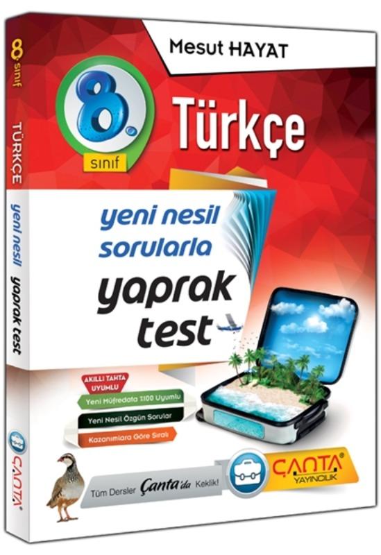 8. Sınıf Türkçe Yaprak Test Çanta Yayınları