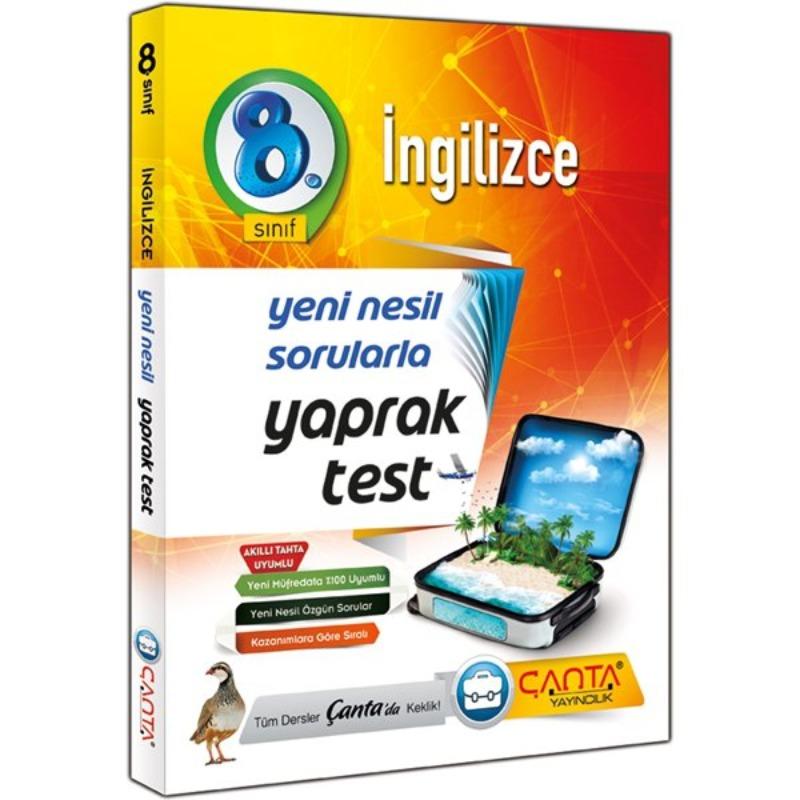 8. Sınıf İngilizce Yaprak Test Çanta Yayınları
