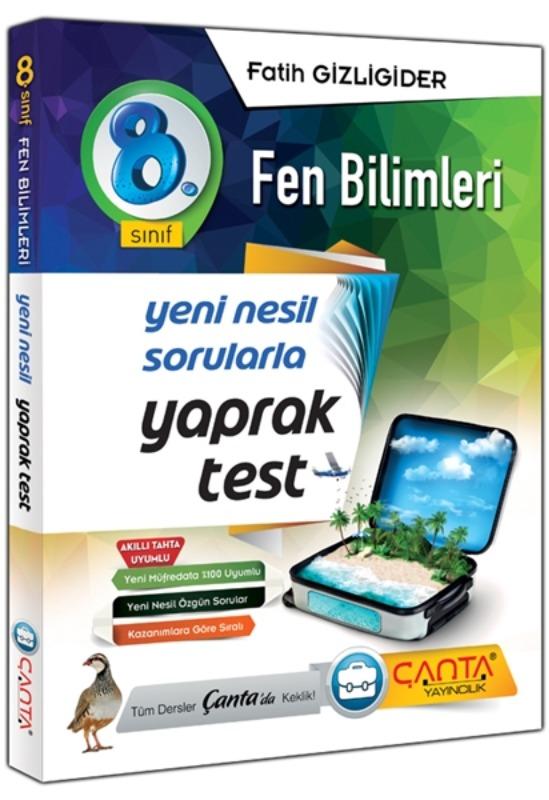 8. Sınıf Fen Bilimleri Yaprak Test Çanta Yayınları
