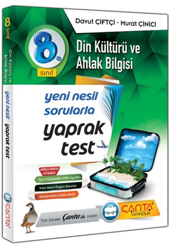 8. Sınıf Din Kültürü ve Ahlak Bilgisi Yaprak Test Çanta Yayınları