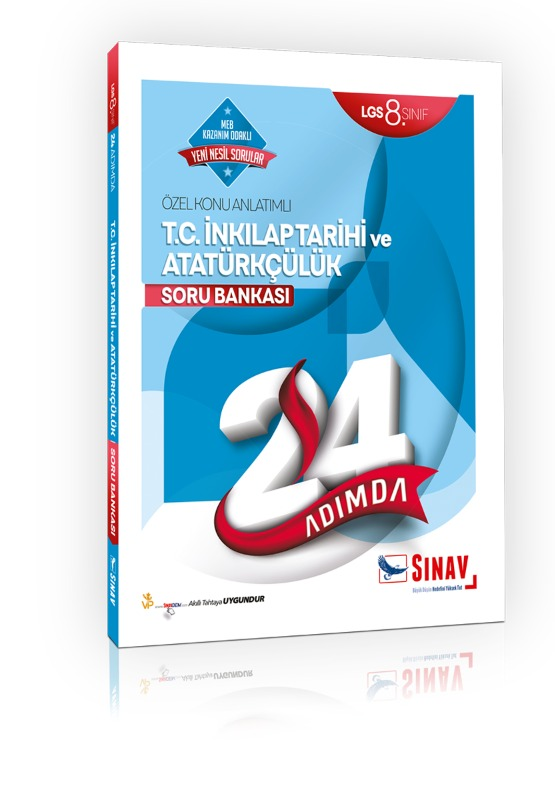 Sınav Yayınları 8. Sınıf LGS T.C. İnkılap Tarihi ve Atatürkçülük 24 Adımda Özel Konu Anlatımlı Soru Bankası