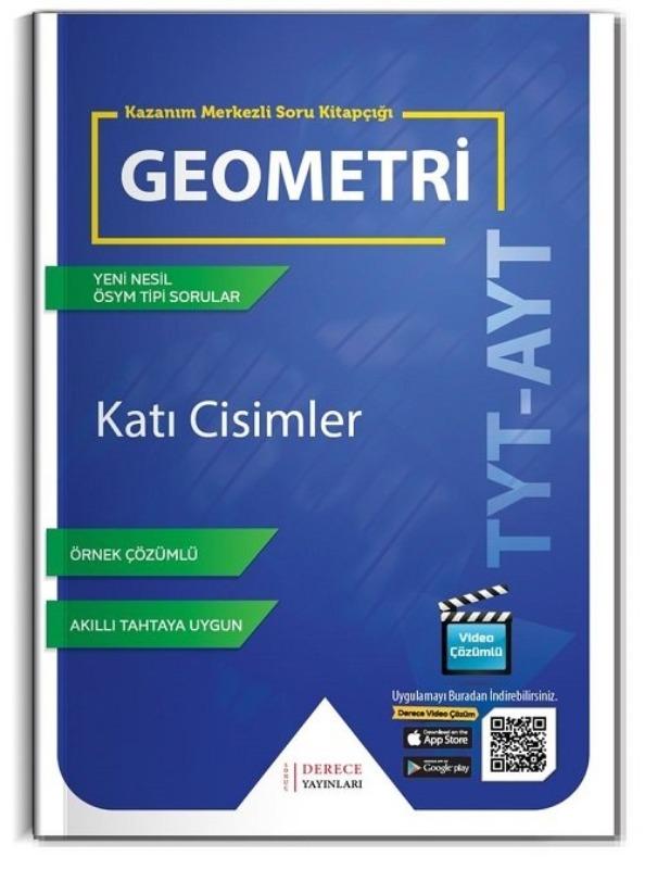 Derece YKS TYT AYT Geometri Katı Cisimler Kazanım Merkezli Soru Bankası Video Çözümlü Derece Yayınları