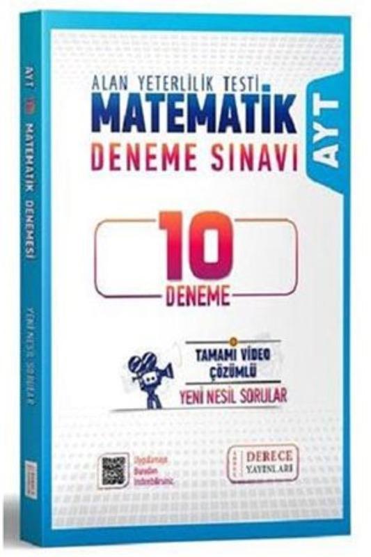Derece AYT Matematik 10 Deneme Derece Yayınları