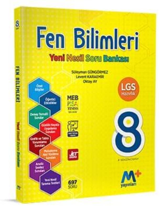8. Sınıf Fen Bilimleri Yeni Nesil Soru Bankası Martı Okul Yayınları