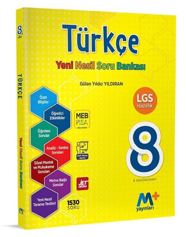 8. Sınıf Türkçe Yeni Nesil Soru Bankası  Martı Okul Yayınları