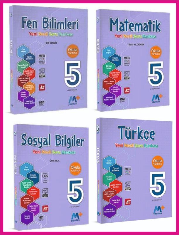 5. Sınıf Yeni Nesil Soru Bankası Seti 4 Kitap Martı Okul Yayınları