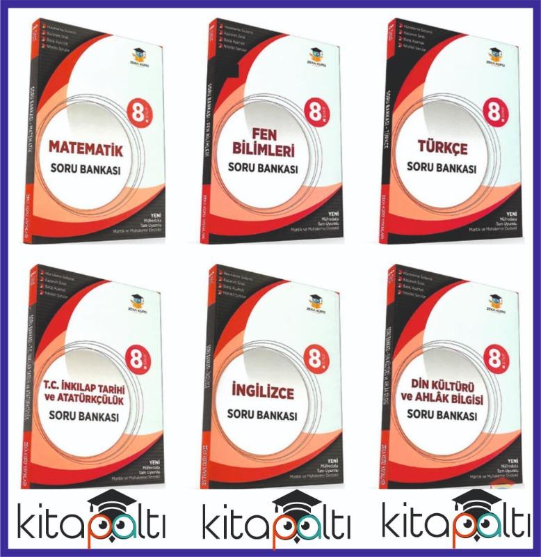 8.Sınıf  Soru Bankası Seti 2020 Yeni 6 kitap Zeka Küpü Yayınları