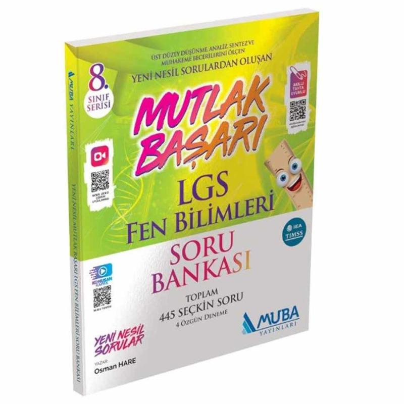 Mutlak Başarı LGS Fen Bilimleri Soru Bankası Muba Yayınları
