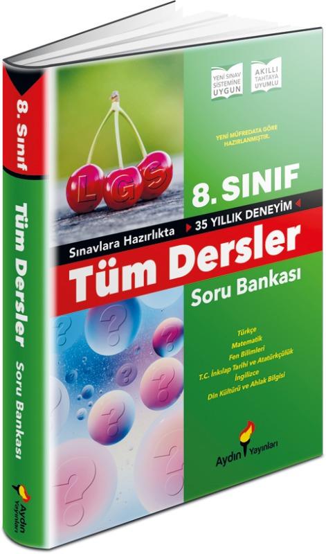8. Sınıf Tüm Dersler Soru Bankası Aydın Yayınları
