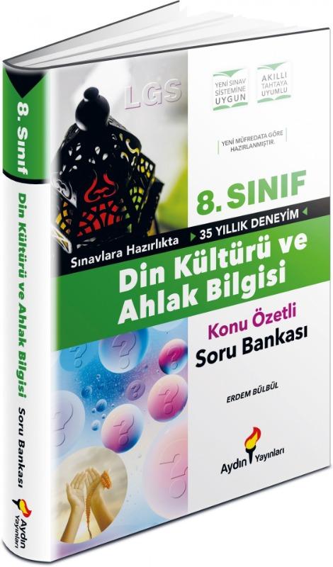 LGS 8. Sınıf Din Kültürü ve Ahlak Bilgisi Konu Özetli Soru Bankası Aydın Yayınları