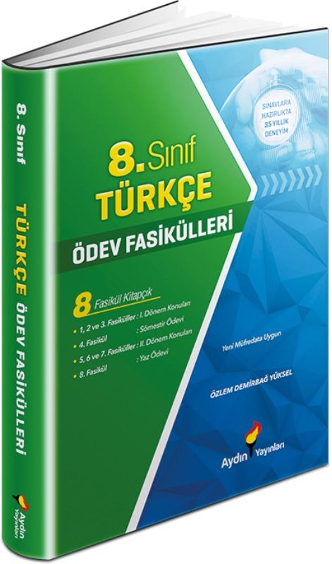 8. Sınıf Türkçe Ödev Fasikülleri Aydın Yayınları
