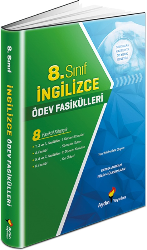 8. Sınıf İngilizce Ödev Fasikülleri Aydın Yayınları