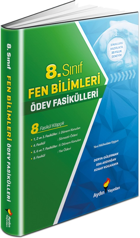 8. Sınıf Fen Bilimleri Ödev Fasikülleri Aydın Yayınları
