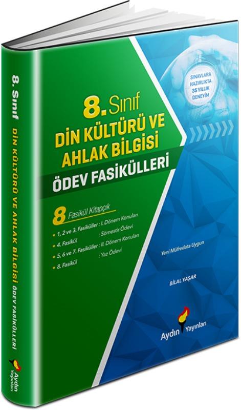 8. Sınıf Din Kültürü ve Ahlak Bilgisi Ödev Fasikülleri Aydın Yayınları