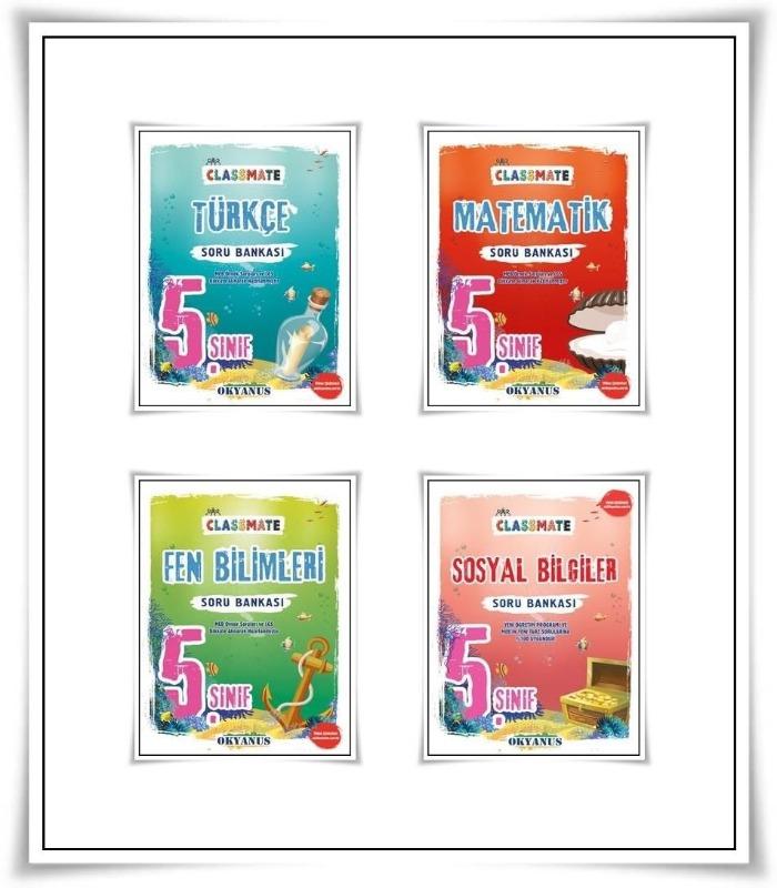 Okyanus Yayınları 5.sınıf Classmate 4 Lü Soru Bankası Seti