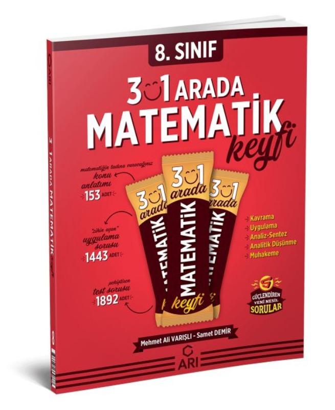 Arı Yayıncılık 8. Sınıf Matematik 3 ü 1 Arada Matematik Keyfi