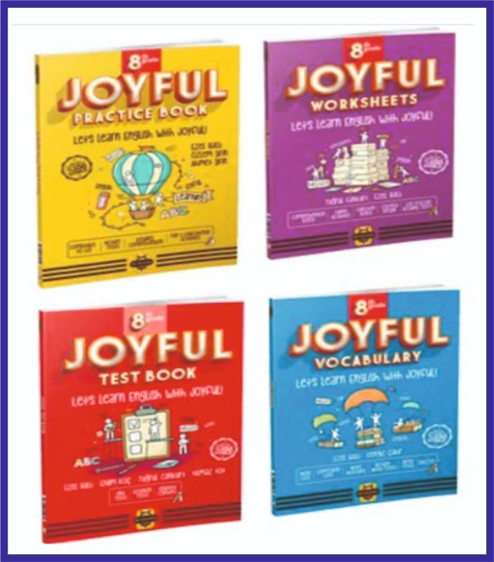 Arı Yayıncılık 8.Sınıf İngilizce JOYFUL Seti 4 KİTAP Bee Publishing
