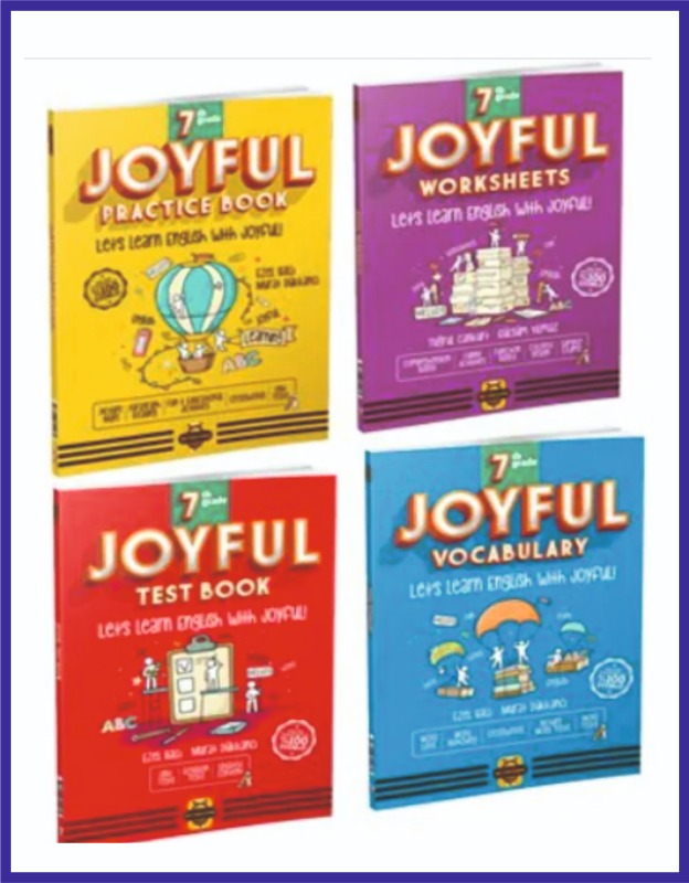 Arı Yayıncılık 7.Sınıf İngilizce JOYFUL Seti 4 KİTAP Bee Publishing