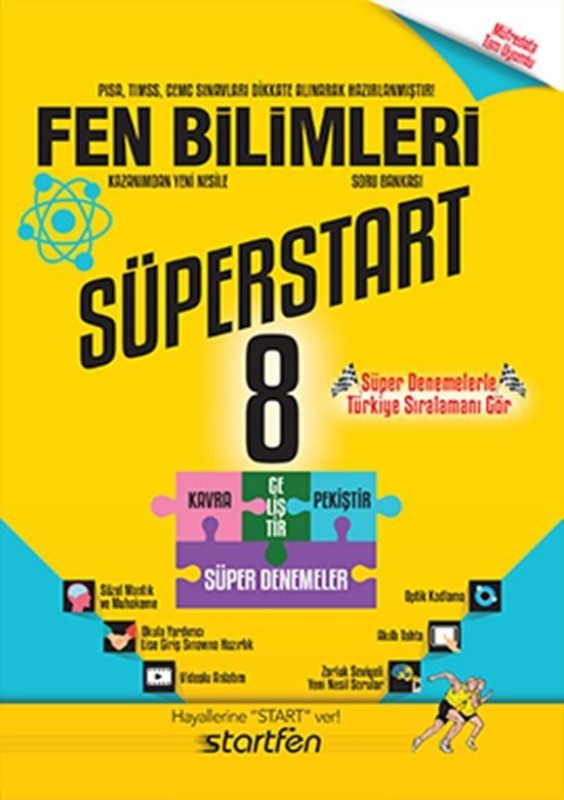 8.Sınıf Fen Bilimleri Soru Bankası Süperstart Startfen Yayınları
