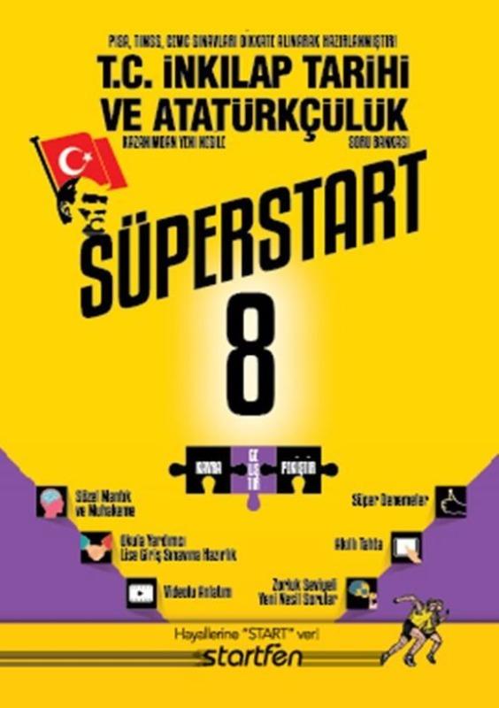 8.Sınıf İnkılap Tarihi Ve Atatürkçülük Soru Bankası Süperstart Starfen Yayınları