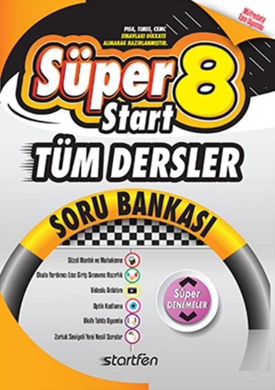 8.Sınıf Tüm Dersler Soru Bankası SüperStart Startfen Yayınları