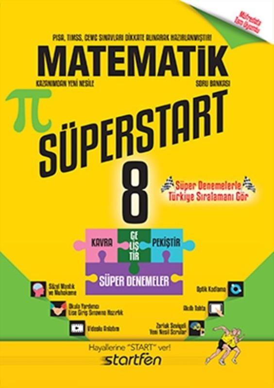 8.Sınıf Matematik Soru Bankası Süperstart Startfen Yayınları