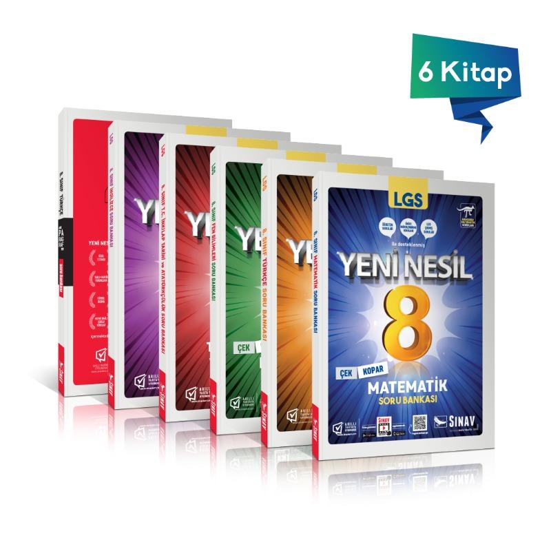 Sınav Yayınları 8. Sınıf LGS Yeni Nesil Soru Bankası Seti  (6 Kitap)