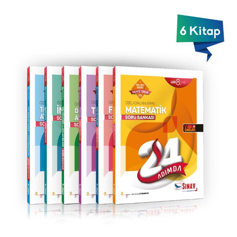 Sınav Yayınları 8. Sınıf LGS Tüm Dersler Soru Bankası 24 Adımda Kazandıran Set 6 Kitap